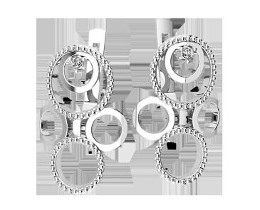 Серьги серебряные Орбита 41240