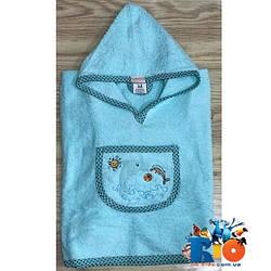 Полотенце с капюшоном для купания, махра (90% cotton, 10% micropoly), размер 1-2, 2-3, 3-4 года (3 ед в уп)
