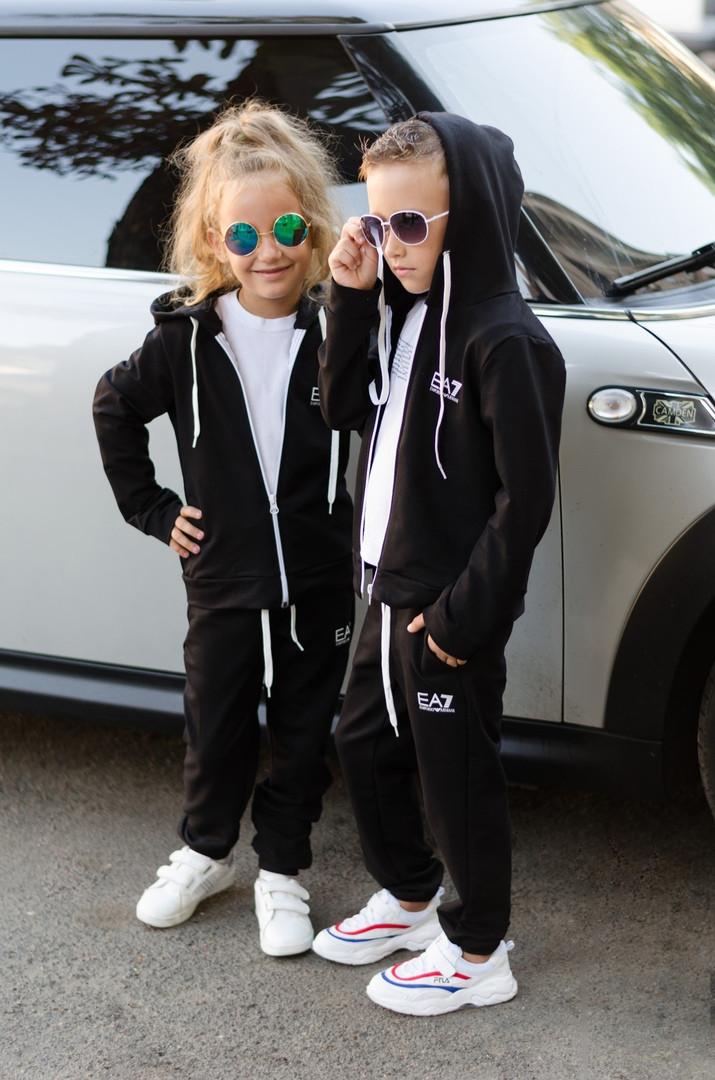 """Детский супер стильный спортивный костюм унисекс """"EA7""""( турецкая двух нить высокого качества) 3 цвета"""