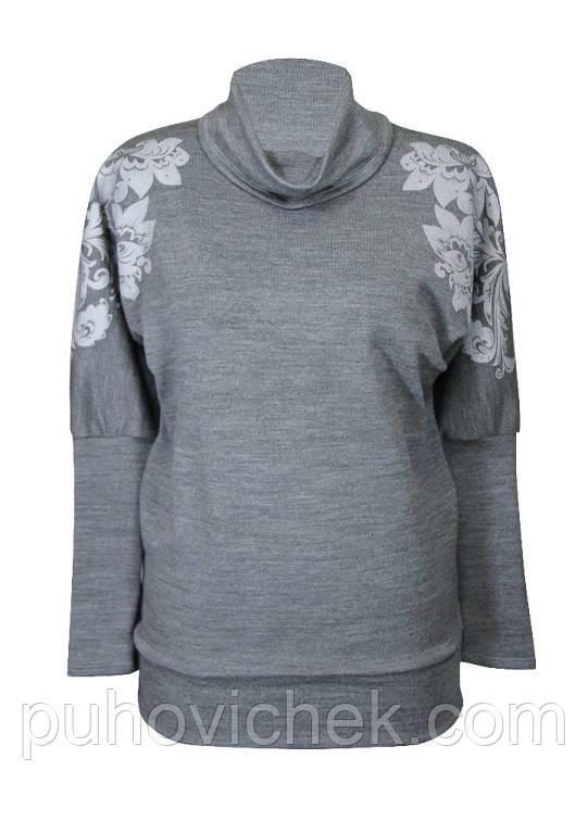 Теплые женские туники свитера