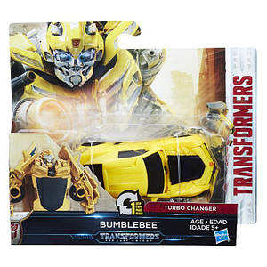 Трансформер автобот Бамблби в 1-шаг, 11 cм - Bumblebee, Autobot, One step, Turbo Changer, TF5, Hasbro