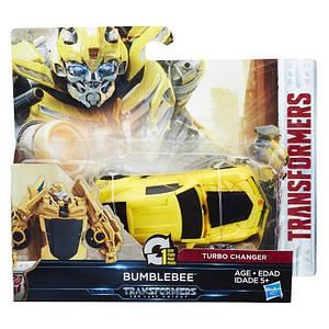 Трансформер автобот Бамблби в 1-шаг, 11 cм - Bumblebee, Autobot, One step, Turbo Changer, TF5, Hasbro