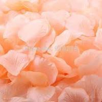 Лепестки роз искусственные, персиковые