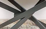 Стіл LINCOLN 160/240 см кераміка світло-сірий глянець (безкоштовна доставка), фото 5
