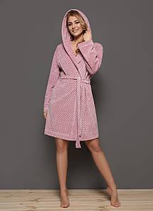 Жіночий велюровий халат L&L 8105