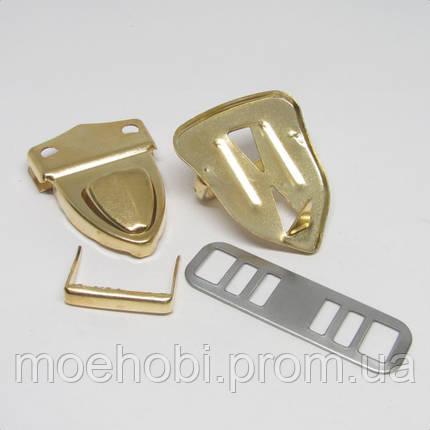 Замок для сумки золото  4575, фото 2