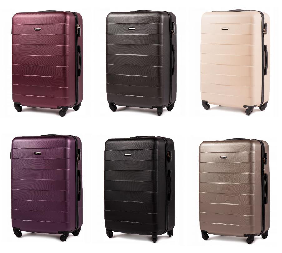 Дорожный чемодан на колесах WINGS ABS 401 Большой ударостойкий Разные цвета