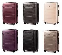 Дорожный чемодан на колесах WINGS ABS 401 Большой ударостойкий Разные цвета, фото 1