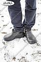 Мужские меховые галоши черные (Код: ГП-12 мех), фото 4
