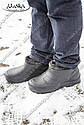 Мужские меховые галоши черные (Код: ГП-12 мех), фото 6