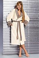 Довгий і комфортний жіночий халат з поясом  L&L Rachel