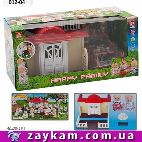 Тварини флоксовые і будиночок Happy Family (012-04) аналог Sylvanian Families