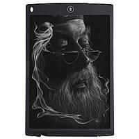 """➤Графический планшет Lesko LCD Writing Tablet 12"""" Black с стилусом в комплекте для рисования"""