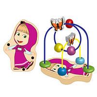 Деревянная игрушка Игра-логика GT 5946 (12шт) Маша и Медведь, Маша, лабиринт на проволоке, в кульке,