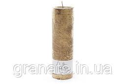 Декоративная Свеча 20х6 см, время горения 60 часов, цвет - золото