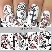 """Наклейки для ногтей """"Halloween"""" - размер стикера 5*6см"""