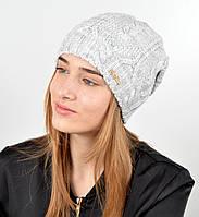 """Женская шапка """"Лиана"""" св.серый, фото 1"""