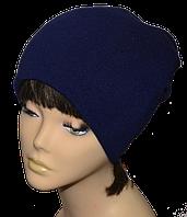 Шапка-колпак утепленная Пирсинг темно-синяя