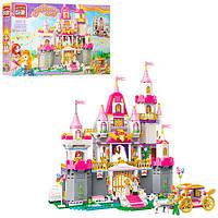 Конструктор BRICK 2612 (5шт) замок принцессы,карета,фигурки, 940дет, в кор-ке, 62-40-8см