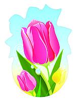 Декорация настенная к 8 марта из картона «Тюльпаны»