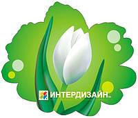 Декорация настенная к 8 марта из картона «Белый тюльпан»