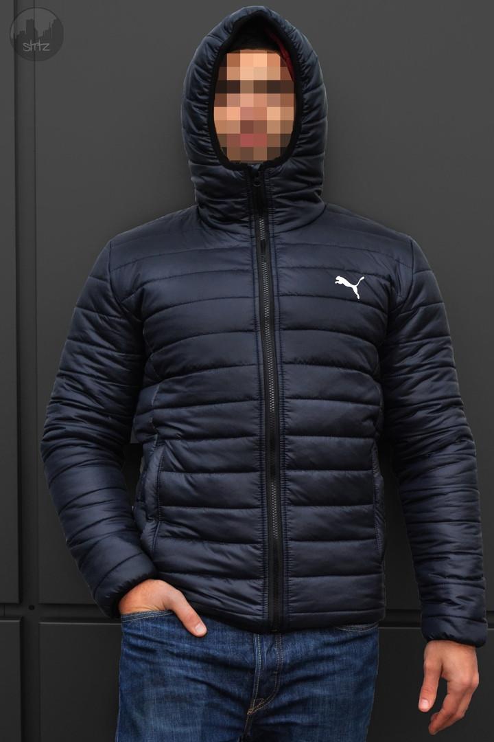 6b859e259373 Новая Зимняя Мужская Куртка Puma Темно-Синяя Куртки Мужские Теплые  Брендовые Пума