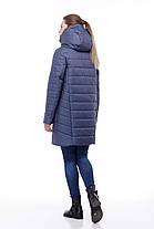 Зимний пуховик на морозы до -30 большие размеры  42- 54 джинс флок, фото 3