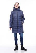 Зимний пуховик на морозы до -30 большие размеры  42- 54 джинс флок, фото 2