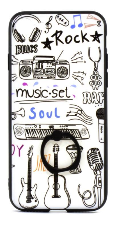 "Чехол накладка для Apple iPhone 7/8 (4.7 "") TPU Белый / Музыка"