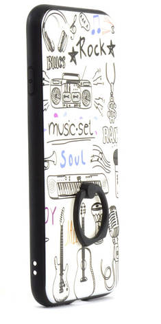 "Чехол накладка для Apple iPhone 7/8 (4.7 "") TPU Белый / Музыка, фото 2"