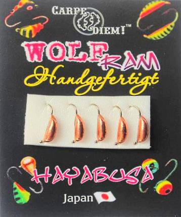 Мормышка вольфрам Рижский банан кр.№18  0,3g Бронза, фото 2