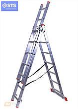Трехсекционная алюминиевая лестница STS