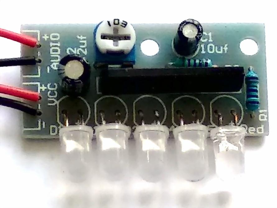 Светодиодный индикатор уровня сигнала для металлоискателя Пират