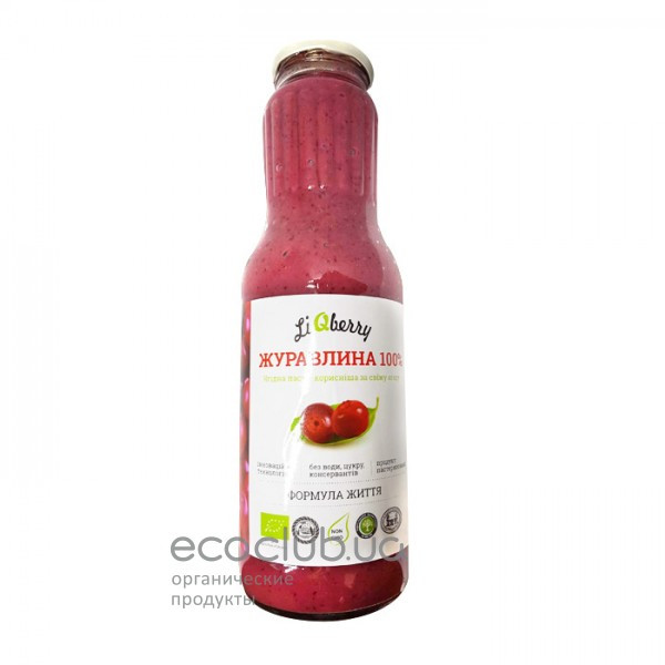 Клюквенная органическая ягодная паста LiQberry 1л