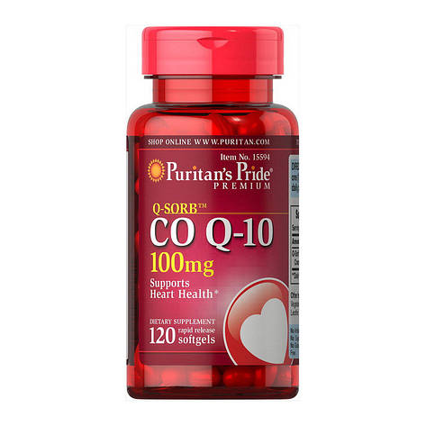 Puritan's Pride Co Q-10 100 mg 120 caps, фото 2