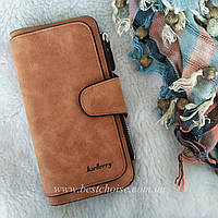Рыжевато-коричневый Baellerry Forever. Женский кошелек - клатч из эко-замши.