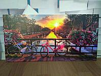 Фотопанно  Амстердам. Печать на керамической плитке, размер плитки 60х30см.