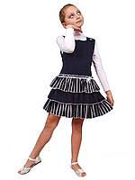 """М -918-1 Сарафан детский для девочки трикотажный   рост 104-146  тм """"Попелюшка"""", фото 1"""