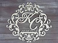 Монограмма или семейный герб. Без покраски. Изготовлено из фанеры 6 мм.