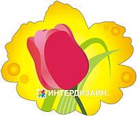 Декорация настенная к 8 марта из картона «Розовый тюльпан»