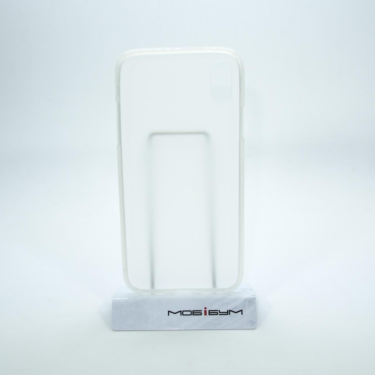 TPU iPhone Xs X white Для телефона Чехол