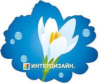 Декорация настенная к 8 марта из картона «Белый крокус»