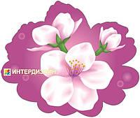 Декорация настенная к 8 марта из картона «Цвет вишни»