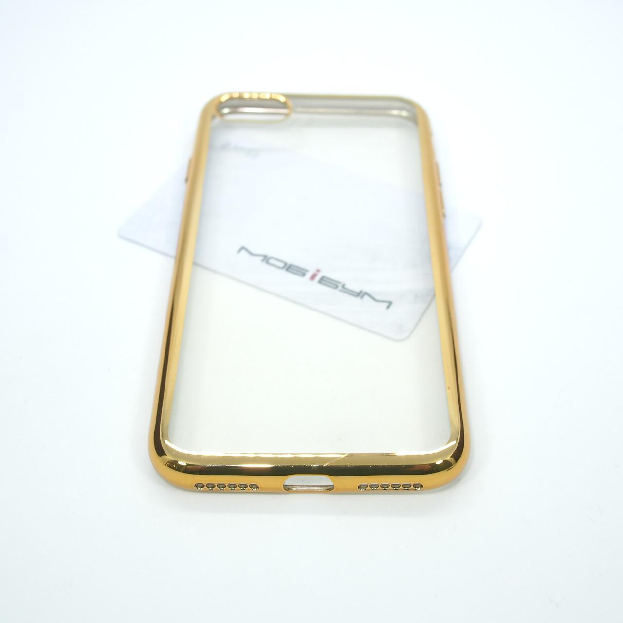 Чехол TPU bamper iPhone 7 gold