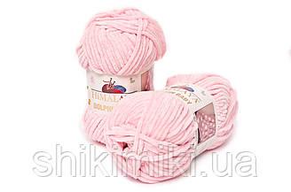 Пряжа велюровая Dolphin Baby, цвет Розовый