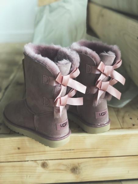 Женские Австралийские угги UGG Australia Pink 2 Stripe розовые