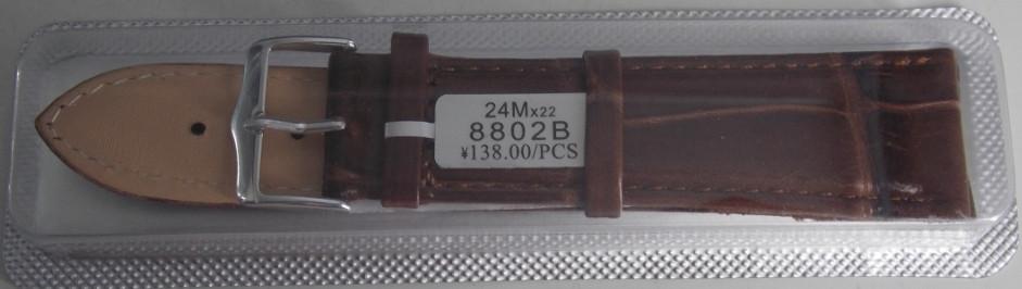Ремешок кожаный JINA (Китай) коричневый 24 мм