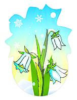 Декорация настенная к 8 марта «Подснежники»