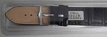 Ремінець шкіряний JINA (Китай) 22 мм чорний