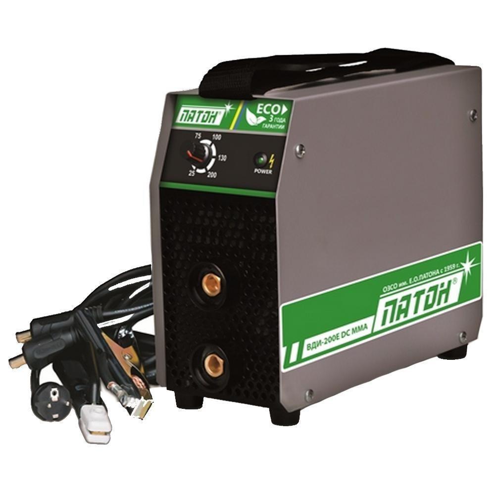 Инвертор Патон ВДИ-200E DC сварочный (200А, 5.5 кВт, блок защиты)